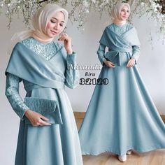 Style hijab pesta watches New Ideas Hijab Gown, Hijab Dress Party, Hijab Style Dress, Hijab Wedding Dresses, Modest Bridesmaid Dresses, Dress Outfits, Dress Up, Kebaya Modern Dress, Kebaya Dress