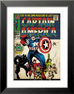 framed retro comic book cover