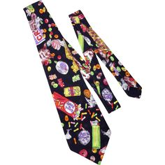 Nicole Miller 1990 Silk Necktie Candy Novelty Print available at My Vintage Clothes Line on Ruby Lane.