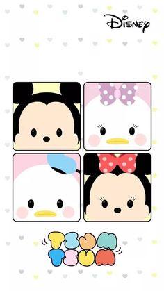 Tsum Tsum Wallpaper, Mickey Mouse Wallpaper, Sanrio Wallpaper, Wallpaper Iphone Disney, Cute Disney Wallpaper, Kawaii Wallpaper, Cute Cartoon Wallpapers, Fundo Tsum Tsum, Baby Disney