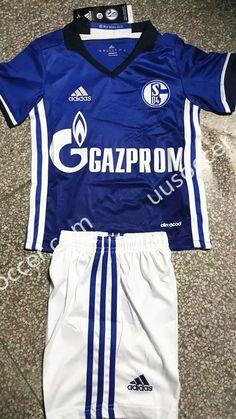 2016-17 Schalke 04 Home Black Kid/Youth Soccer Uniform