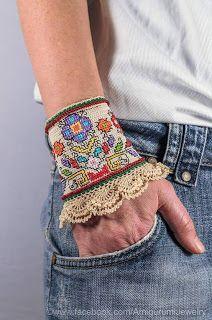 Tina's handicraft : crochet & embroidery bracelet