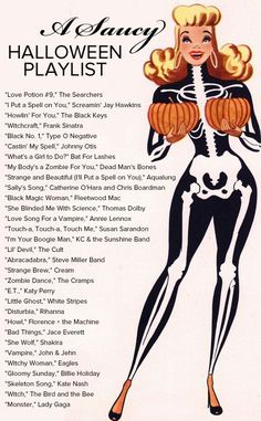 A saucy Halloween playlist.
