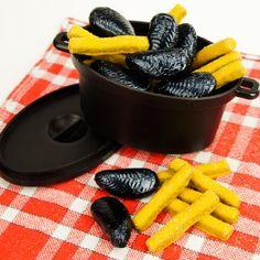 BienManger chocolats & gourmandises - Moules frites en chocolat dans leur cocotte