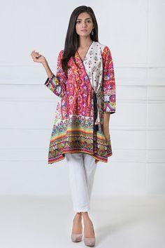 Khaadi Lawn printed kurta dresses for summer http://www.fashioncluba.com/2017/02/khaadi-turkish-summer-women-kurta-dress-collection.html