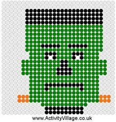 Frankenstein Fuse Bead Pattern