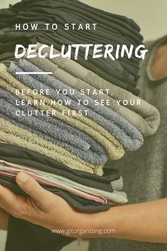 """How do you start to declutter? You first need to know what clutter is. Clutter can be almost anything, but what defines it as clutter is that it is not being displayed or organized in a tidy fashion. You always begin de-cluttering with """"seeing"""" what clutter you have. By removing and properly storing items, you are then left with a room that is tidy, organized, safe, and comfortable. Nook And Cranny, Decluttering, Organization, Tips, Room, Fashion, Getting Organized, Bedroom, Moda"""