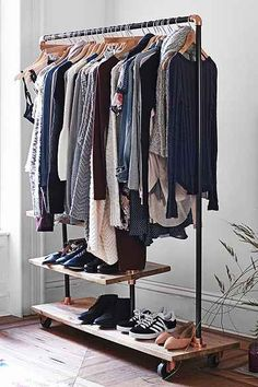 4040 Locust Industrial Storage Rack - something like this if there's no closet.