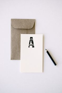 tiny monogrammed notes. chevron. cool. by inhauspress