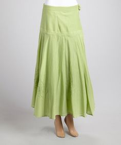 Look what I found on #zulily! Green Embroidered Pleated Skirt - Women by Advance Apparels #zulilyfinds