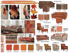 Decor-Rest Trend Council - Burnt Orange. You'll be seeing a lot of these colours this fall at MJM Furniture. #mjmfurniture #decorrest #rust #spice #burnt #orange #colour #trend #furniture #home #decor #design #homedecor #interiordesign #sofas #sectionals #madeincanada #vancouver #vancity #fall2016 #upholstery