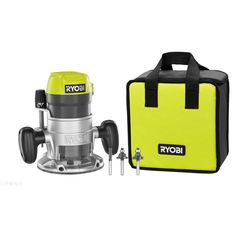Ryobi Peak HP Router with Router Bit Set provides long-lasting high performance. Ryobi Cordless Tools, Router Tool, Trim Router, Router Woodworking, Router Bits, Fine Woodworking, Benchtop Router Table, Half Bath Remodel