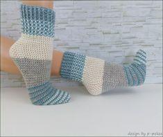 Häkle Dir jetzt mit der PDF-Anleitung und der schönen Wolle /// Verlaufswolle wunderbare Socken mit Farbeffekten Deiner Wahl. Probiers gleich mal aus damit.