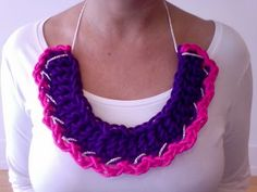 nylon cord crochet necklace diy chain tutorial
