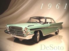 1961 DeSoto Two Door Hardtop. The last year for DeSoto. My dad has a four and two door