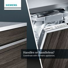 Which style of kitchen do you prefer? Sleek handleless or statement handles? #SiemensAppliances http://www.milliganandjessop.com #MJ Siemens