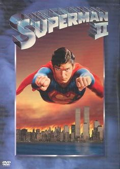 Superman II: A well made (if sometimes silly) superhero movie that (I believe) surpasses the original. Not as fancy as the superhero movies of today, but still worth watching. Christopher Reeve IS (and always will be) my Superman. Superman 2, Superman Movies, Superman Man Of Steel, Superhero Movies, 1980's Movies, Action Movies, Great Movies, Movies To Watch, Movies Online