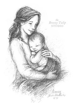 A Mother's Love  Art Print by BreezyTulip on Etsy