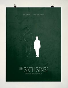 'The Sixth Sense' Minimalist Poster