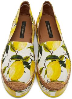 Dolce & Gabbana - Yellow & White Lemons Espadrilles (shoes)