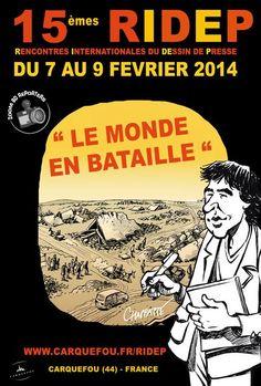 Rencontres internationales du dessin de presse. Du 7 au 9 février 2014 à Carquefou.