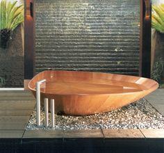 Bad-Trends und Badewannen aus Holz Furnier