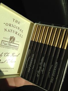 Nat Sherman Black And Gold Collectible Cigarettes Burning Lungs, Black Cigarettes, Cigarette Aesthetic, Alcohol Aesthetic, Smoke Pictures, Cigarette Brands, Bad Barbie, Smoke Photography, Snapchat Picture