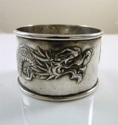 antique Chinese Silver napkin ring - Bing Images