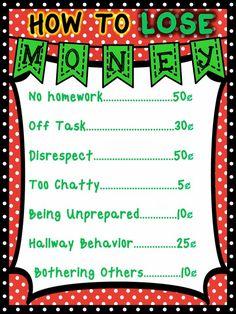 classroom management system using pretend money