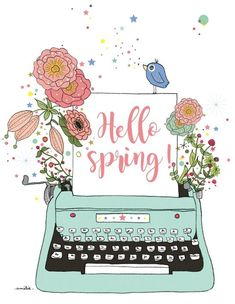 A love letter for the season Frühling Wallpaper, Spring Wallpaper, Spring Drawing, Diy Y Manualidades, Hello Spring, Happy Spring, Cute Illustration, Amelie, Cute Drawings