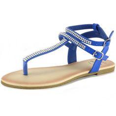 c22b2bda8609 Alpine Swiss Women s Gladiator Sandals T-Strap Slingback Roman Rhinestone  Flats