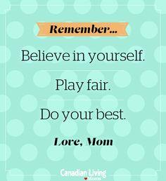 Inspiring words for kids
