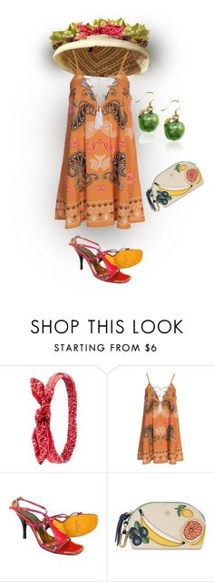 """FRUITS OF SUMMER"" by melange-art ❤ liked on Polyvore featuring Charlotte Russe, Kiss The Sky and Tory Burch"