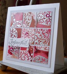 My grid, inchie and scrap projects: Christmas Grids with alcohol inks
