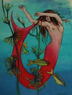 http://www.seinensilk.com/paintings/gallery/d/248-4/red_mermaid_001.jpg
