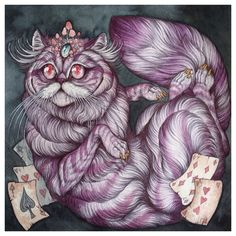 Caitlin Hackett - Alice in Wonderland Cheshire Cat Commission Piece