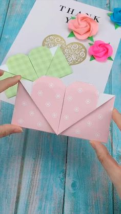 Creative handicraft - Karten basteln - creative crafts let& do together!😘😘😍😍 - Cool Paper Crafts, Paper Crafts Origami, Diy Paper, Fun Crafts, Wood Crafts, Cardboard Crafts, Scrapbook Paper Crafts, Kraft Paper, Arts And Crafts