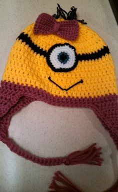 Despicable Me Girl Minion Crochet Beanie