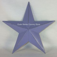 "12"" Distressed Lavender rusty Metal Barn Wall Star -  Great accent for Country Primitive, Shabby Cottage Chic, French Country, Early American or farmhouse style home decor! An outerbankscountrystore.com Exclusive!"