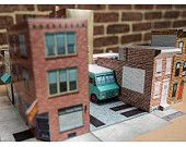 Memphis Taproom & Beer Garden Philly. Grand Circus Paper and Toy. Kit ships flat.