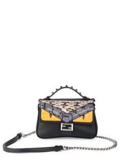 fendi leather snakeskin double micro baguette ron liked on polyvore featuring bags handbags apparel accessories satchel handbags white satchel