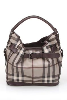 Burberry Handbag In Plum.