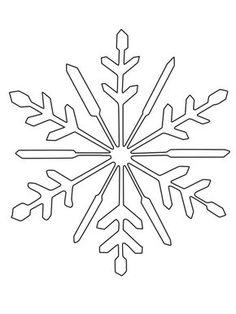 Schneeflocken und Sterne: Schneeflocke zum Ausmalen zum Ausmalen