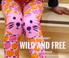 Wild and free lounge pants, Coffee and thread, sewing for kids, Nähen für Kinder, Stahlarbeit, Plotter, Silhouette, Katzengesicht, Graziela Stoff,