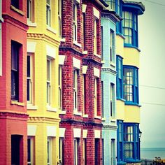 Town Houses of English Seaside Cromer
