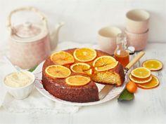 Mehevä appelsiinikakku sitrussiirapilla