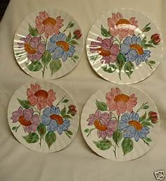 Image Detail for - RAINELLE BLUE RIDGE SOUTHERN POTTERIES DINNER PLATES | eBay & Blue Ridge Pottery I have a lot of these pieces plates pitchers ...