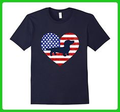 Mens Patriotic Dachshund Doxie Outline 4th of July Tshirt Large Navy - Holiday and seasonal shirts (*Amazon Partner-Link)