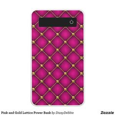 Pink and Gold Lattice Power Bank