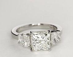 3.07 Carat Diamond Four Stone Square Brilliant Diamond Engagement Ring | Recently Purchased | Blue Nile
